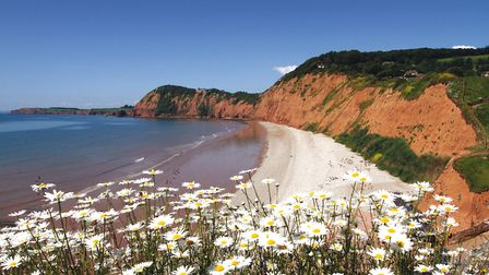 Jacobs ladder beach in Sidmouth. Photo by Terry Ife. Ref shs 1237-24-14TI To order your copy of this