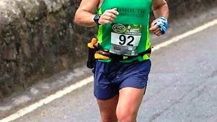 Sidmouth runner Dany Painter during the Dartmoor Ultra meeting