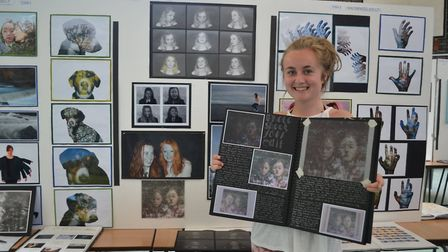 Sidmouth College pupils showed off their work at the school's annual art exhibition following exam m