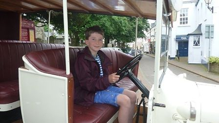 A young driver enjoying Sidmouth Museum's event.