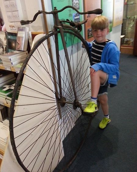 Peter Masters with Penny Farthing