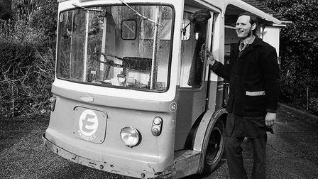 Milkman and his milkfloat. Picture: Sidmouth Herald archive