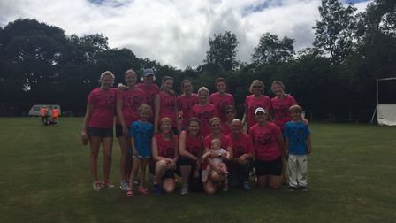 Sidmouth ladies at the Abbotskerswell Festival of ladies cricket
