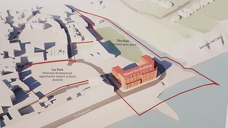 EDDC and Sidmouth Town Council commissioned a scoping study for Port Royal. This illustrations is on
