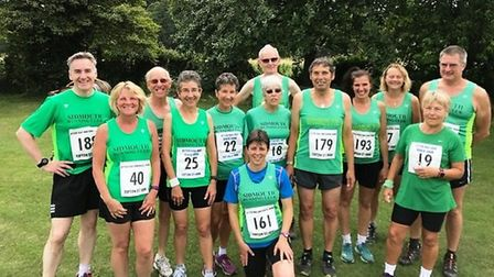 Sidmouth runners at the Otter Rail and River Run