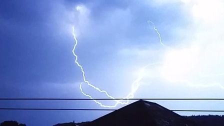 Kate French took these shots of the storm in Sidmouth that happened in the hours of Tuesday night an