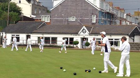 Action from Lyme Regis Bowls Club and a meeting with Sidmouth