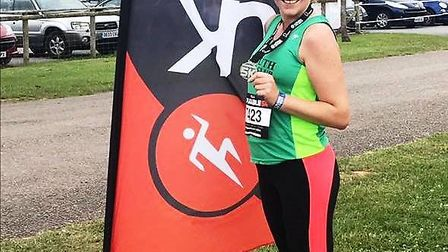 Suzi Rockey at the Inflatable 5k held at Westpoint, Exeter
