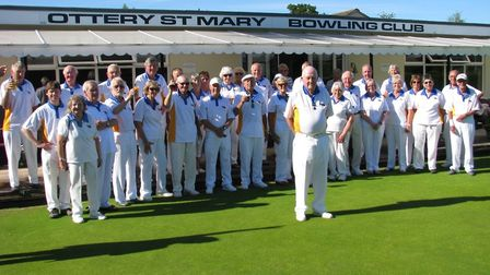The members at Ottery St Mary Bowls Club who attended President's Day.