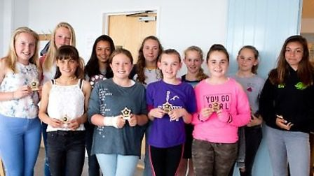 Award winners with their trophies after the Sidmouth Netball Club presentation evening and AGM held