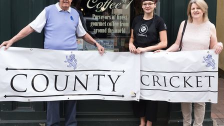 Neil Gamble, Chief Executive of Devon County Cricket Club, Georgia Gardner of Coffee#1 and Gill Ryal
