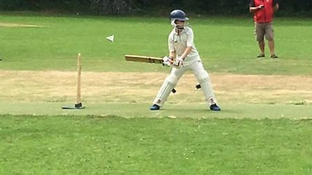 Action from the Sidbury Under-11s thrilling two-run win over Honiton
