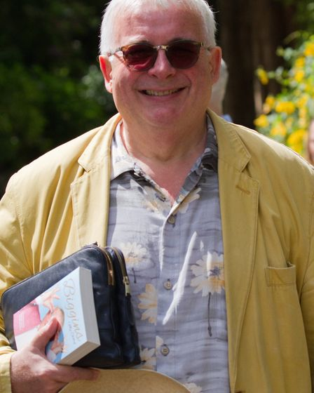 Christopher Biggins at the Sidmouth Literary Festival. Ref shs 25 17TI 5458. Picture: Terry Ife