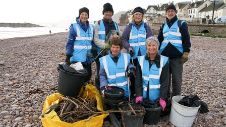 The Sidcombers held their first beach clean of the season. Ref shs 04-16 AW 7537. Picture: Alex Walt