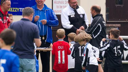 Mike Ringer at the youth football tournament at Ottery's Washbrook Meadow. Ref shsp 26 17TI 5800. Pi