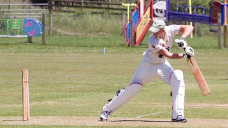 Craig Stephens batting for Sidmouth at home to Seaton. Ref shsp 25 17TI 4839. Picture: Terry Ife