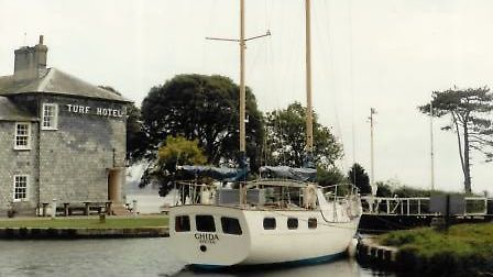 Ghida before she set sail on her round-the-world voyage.