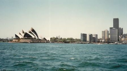 The pair's first glimpse of Sidney when they arrived in 1987.