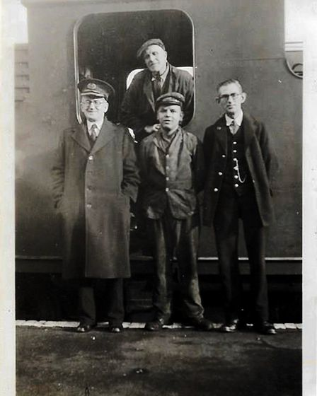 Sidmouth Station staff in 1946