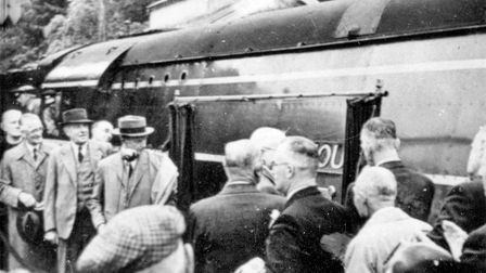 The Sidmouth locomotive at Sidmouth Station in June 1946