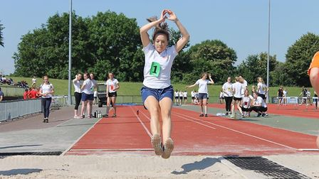 Sidmouth College pupils completed a range of track and field events in the school's annual sports da