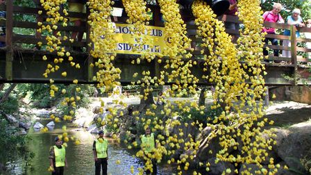 Sidmouth and District Lions Club's annual Duck Derby day took place on Sunday, 14 July at the Byes.