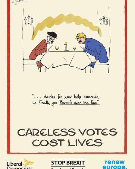 """Careless votes cost lives"" says the new Liberal Democrat poster campaign. Picture: Liberal Democrat"