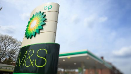 Work is expected to finish on the new M&S BP store in October. Picture: BP PLC