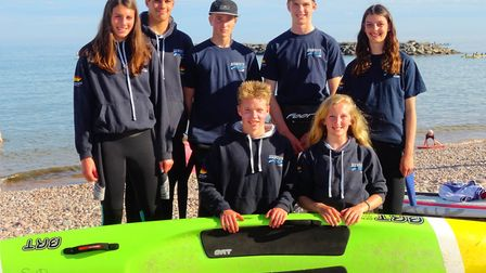 The Sidmouth Surf Life Saving Club seven members who are involved with the Devion squad and now unde