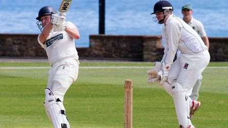 Anthony Dibble batting for Sidmouth II's at home to Cornwood II's. Ref shsp 28-17TI 6804. Picture: T