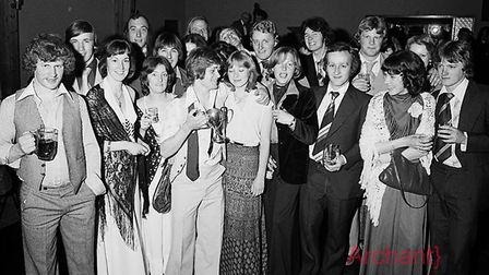 Sidmouth Rugby Club annual dinner at Honiton Motel 6-5-1977. Ref shs Sid RFC dinner Nost 1977-2. Pic