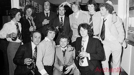 Sidmouth Rugby Club annual dinner at Honiton Motel 6-5-1977. Ref shs Sid RFC dinner Nost 1977-3. Pic