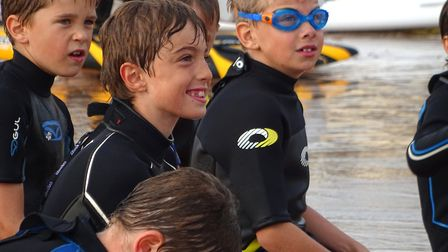 Sidmouth Surf Lifesaving Club gave water safety training to primary school pupils and cubs. Pictur