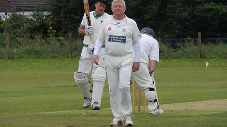 Sidmouth IIIs Graham Munday who claimed three wickets for five runs in the four overs he was able to