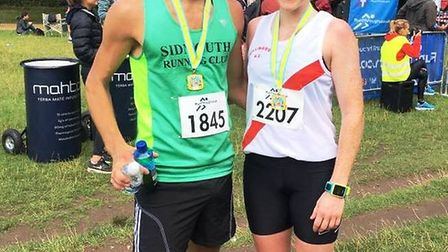 Theo Burgess and Lorraine McNulty at the Richmond Park run.