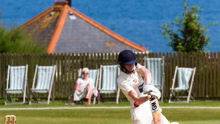Issac Thomas batting for Sidmouth II's at home to Cornwood II's. Ref shsp 28-17TI 6818. Picture: Ter
