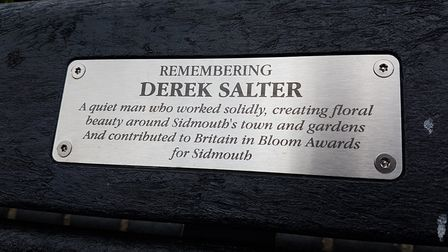 Derek Salter has been remembered with a memorial bench