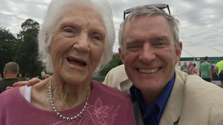 BBC Radio 2 and television presenter Jeremy Vine poses for a selfie with Sundial Nursing Home reside