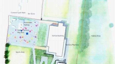 Approved plans for the new layout of Newton Poppleford Primary School. Sidmouth Herald