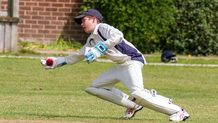 Eddie Rudolf keeping wicket for Ottery 2nds at home to Paington. Ref shsp 20-17TI 3063. Picture: Ter