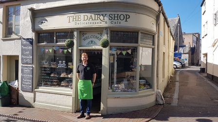 John Hammond and his family have taken over The Dairy Shop in Church Street, Sidmouth