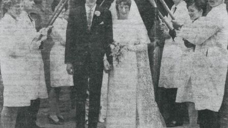 The couple featured on the paper's front page 50 years ago.