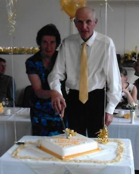 The golden couple celebrating their anniversary.
