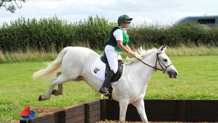 Susie Ford and Jack on their way to victory in the UK TREC championships