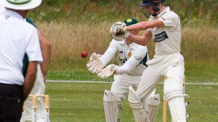 Issac Thomas batting for Sidmouth II's at Budleigh. Ref shsp 29 17TI 7433. Picture: Terry Ife