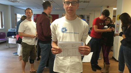 Joel Wilkins was the top student receiving three 9s, six A*s and one A
