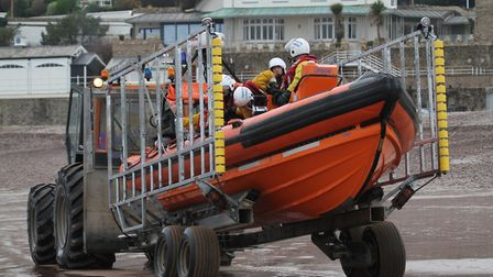 Sidmouth Lifeboat. Ref shs 4548-02-15SH. Photo Simon Horn