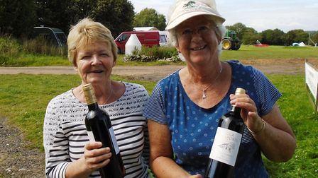 The winning pair at the East Devon Petanque Club double competition, June Diffey and Sue Langdon, wi