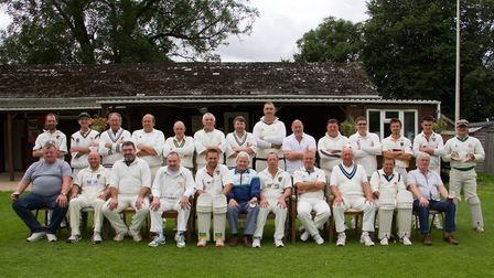 Back row are the pick of the league team from the 90's L-R Alan Osler,Derek Wellman,Phil Spong,Mike
