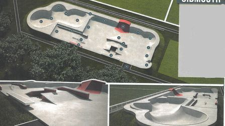 A concept for the skate park showing the type of design that could be considered. Sidmouth Youth C